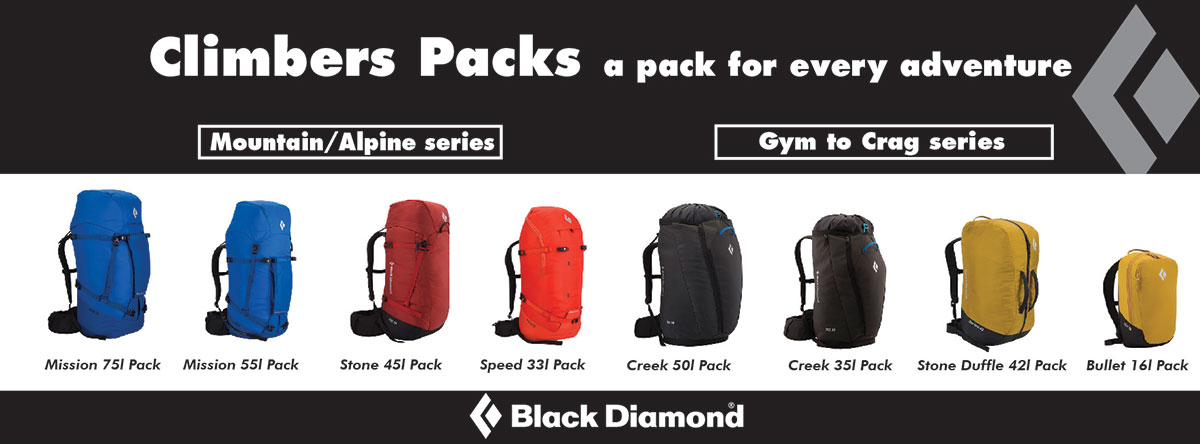 Black Diamond Climbers Packs
